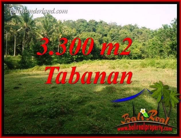 Tanah Murah jual   Tabanan 3,300 m2  View Kebun dan Sungai