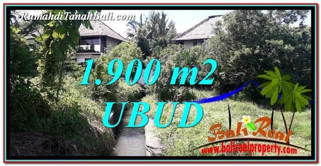 JUAL TANAH MURAH di UBUD BALI 1,900 m2  View Sawah dan pangkung