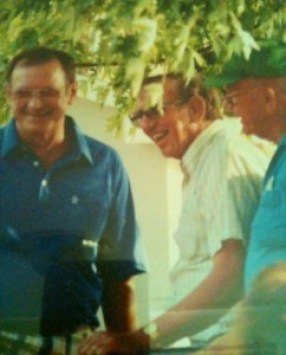 """Doyle, Dale, and William """"Butter"""" Haren c. 1987"""