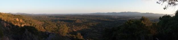Panorama de la vue depuis notre campement