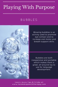 playing with purpose bubbles