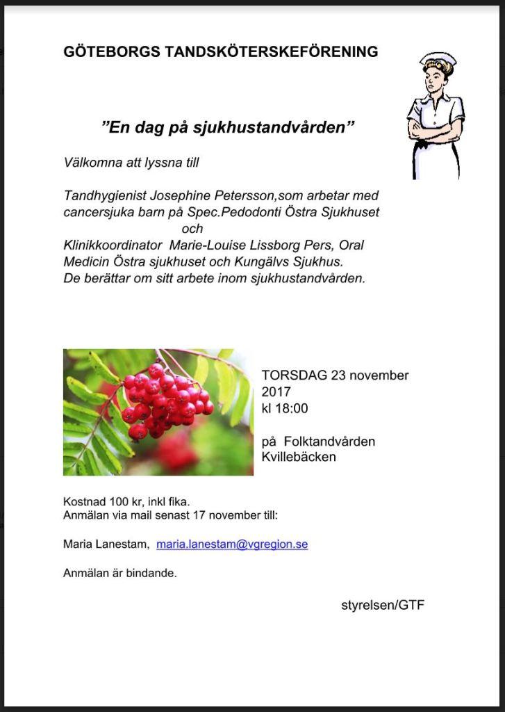 Träff för tandsköterskor i Göteborg