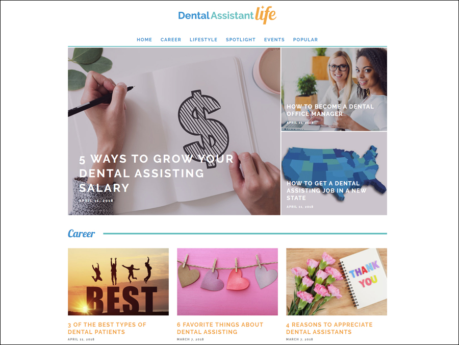 Dental Assistant Life Website