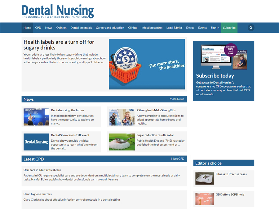 Dental Nursing website