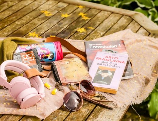 Vad jag har i min väska när jag pendlar. Foto Johanna Ene