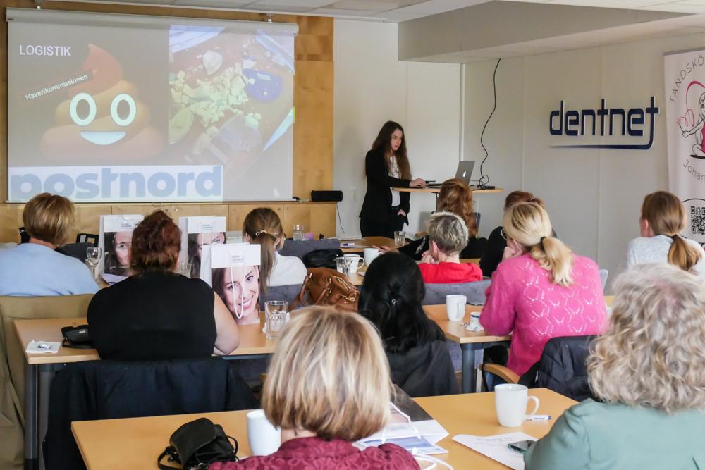 Tandsköterska Hannah Sjöholm föreläser om missöden och vad vi kan lära av dem.