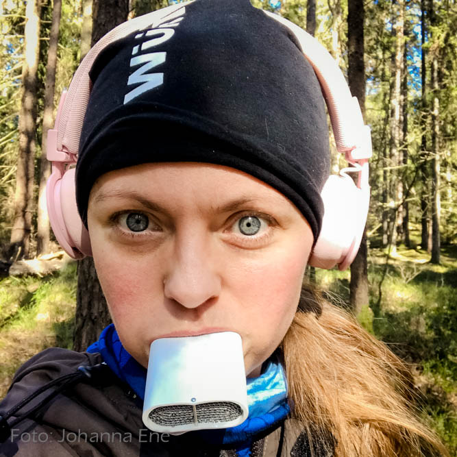 Lungplus för astma och löpning i kyla. Så här används den i munnen.