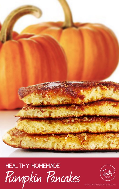 Healthy Homemade Pumpkin Pancakes