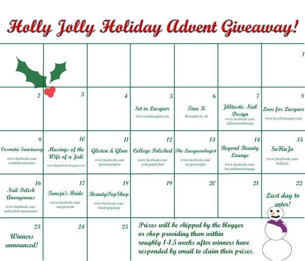 Advent Giveaway Calendar