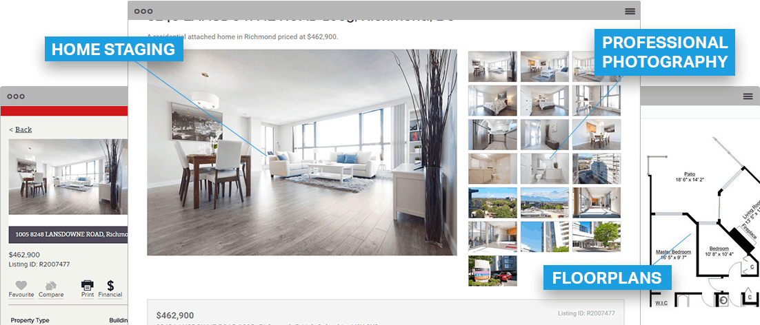 Real Estate Listing Features: Home Staging, Professional Photography, and Floorplans