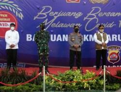 Panglima TNI Bersama Kapolri Lepas Bantuan PPKM Darurat dan Akselerasi Vaksinasi di Banten
