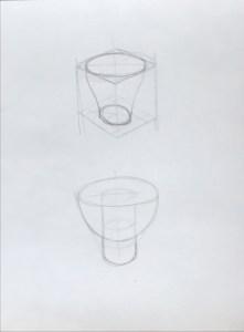Tassa de cafè a llapis
