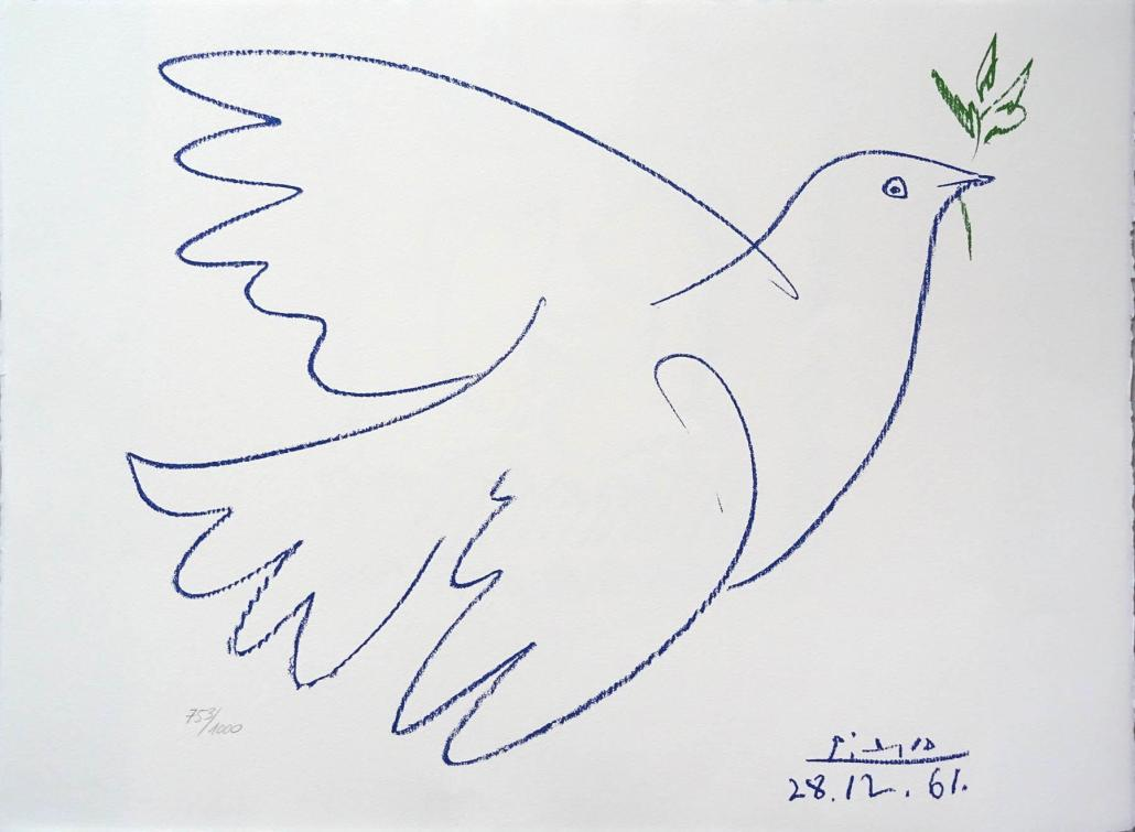La colombe bleue, 1961. Pablo Ruiz Picasso