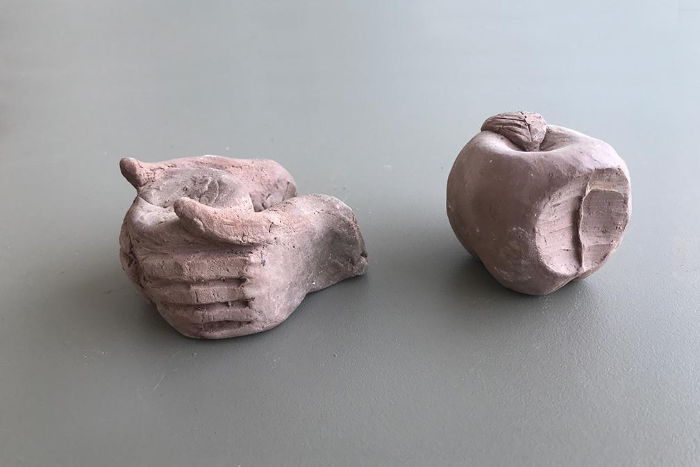 Maquetes de fang modelat per al taller de motlles