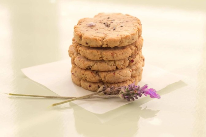 Lavender Nut Cookies Ready