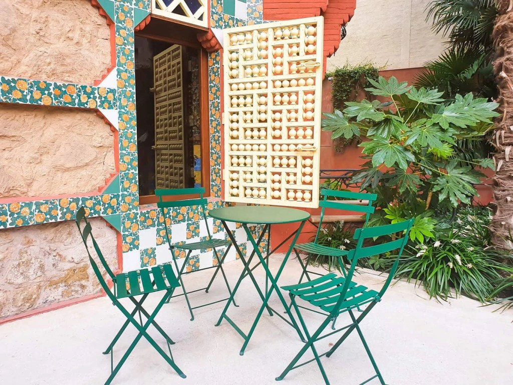 Casa Vicens, Barcelona – Gaudi's First Masterpiece - Review - Cafe bar in the garden
