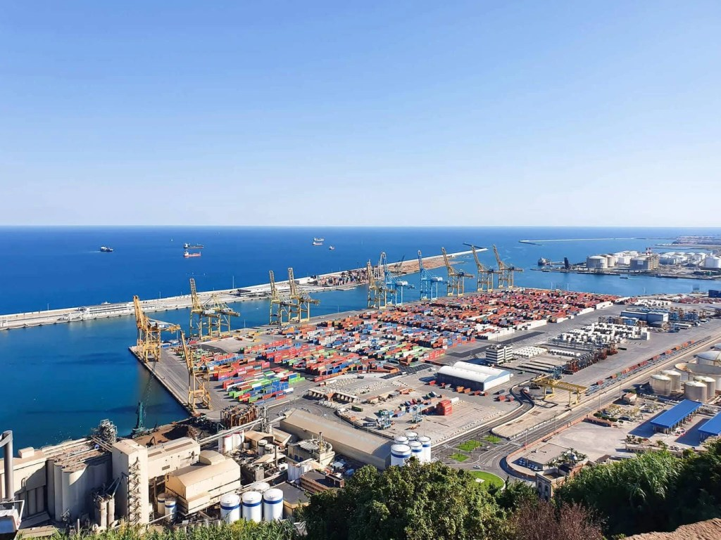 Discover Barcelona - Montjuic Castle Visit & Cable Car - Self Guided Tour- View of the Port