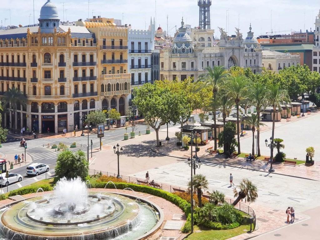 2 days in Valencia (Spain) - full guide - Train Station in Valencia - Plaza de'l Ajuntamento, Valencia
