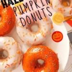 Baked Halloween Pumpkin Donuts - pin2