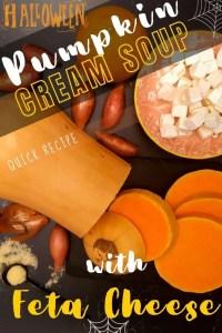 Pumpkin Cream Soup With Feta Cheese - pin3