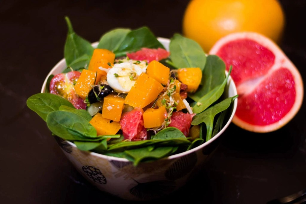 Pumpkin - Spinach Salad - ready to eat