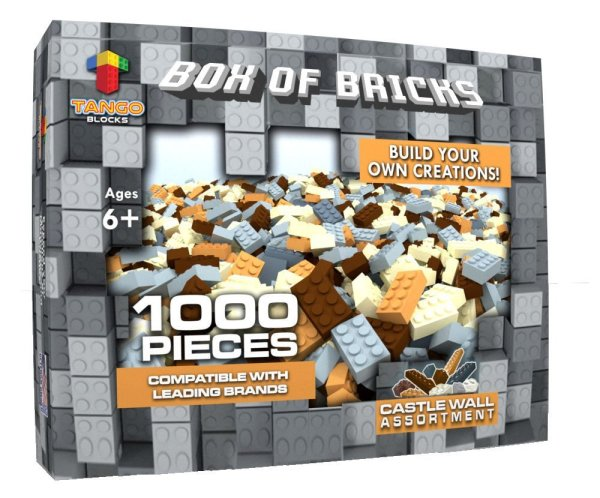 1000 Pieces Crafting Wall Building Bricks