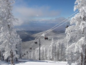 The view from the top of a run at Ski Santa Fe