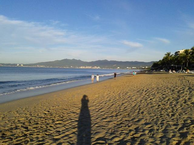 Morning walk along the beach in Nuevo Vallarta