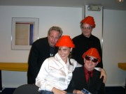 Teresa Tango Diva with Devo the band at Hotel Diva