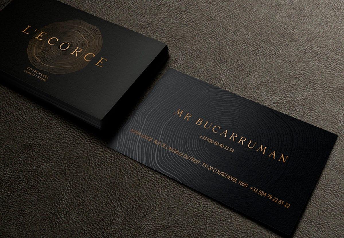 Diseño exclusivo de tarjetas de visita de primera calidad