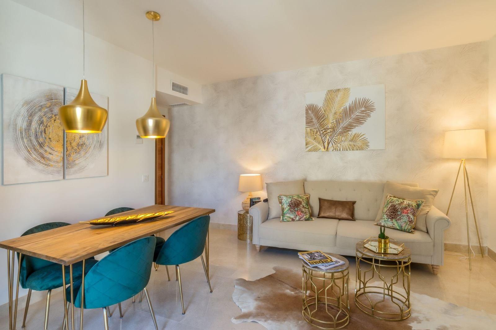 Decoración de apartamentos de alquiler estilo tropical chic