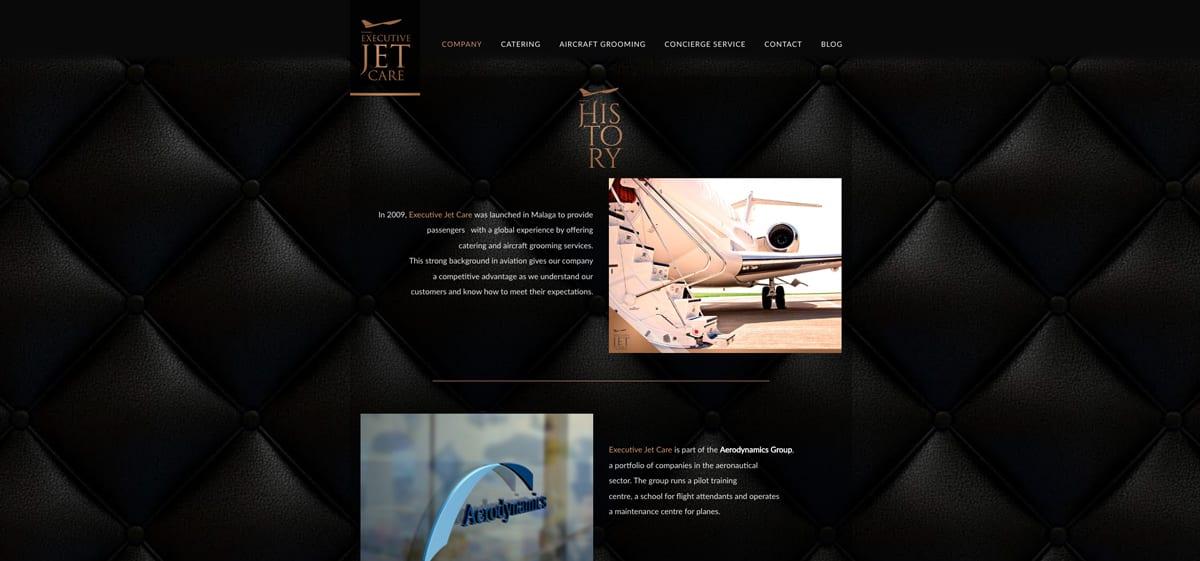 Diseño de lujo para empresa de catering en Málaga