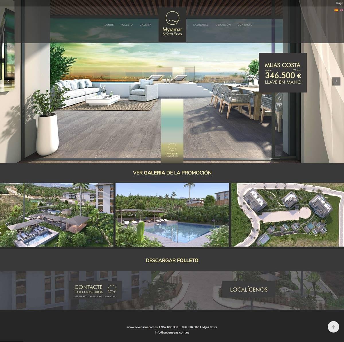 diseño de pagina web para empresa del sector construccion