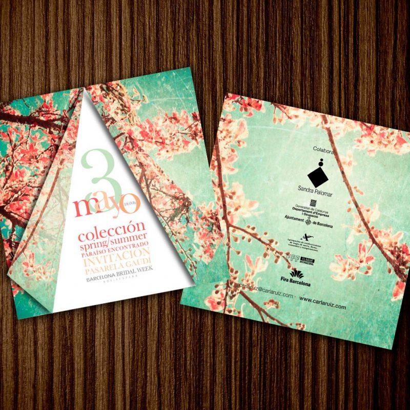 Carla Ruiz, colección, diseño para invitacion