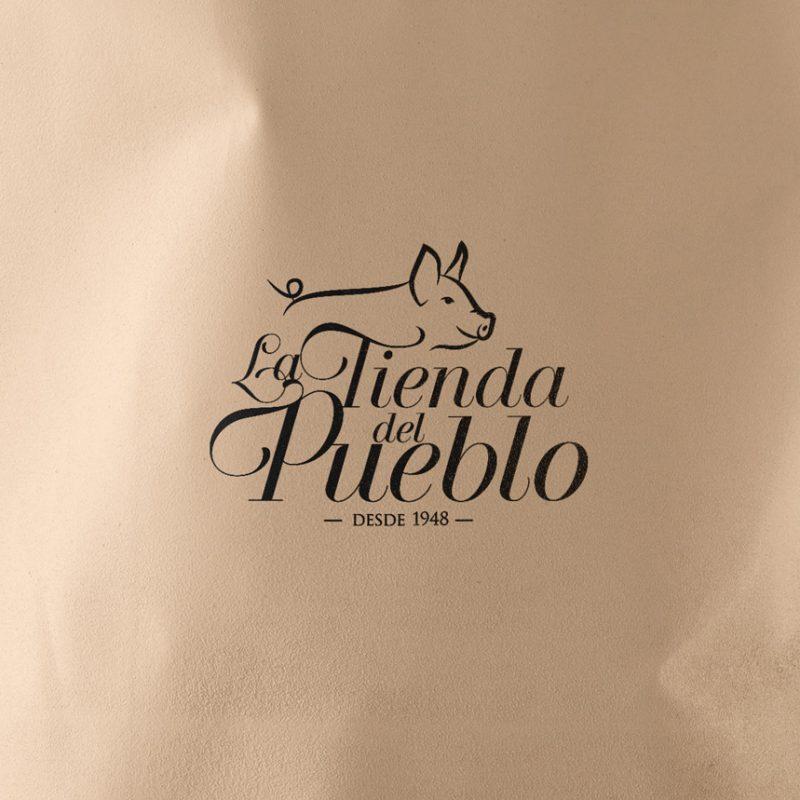 La tienda del pueblo, diseño de logotipo clasico