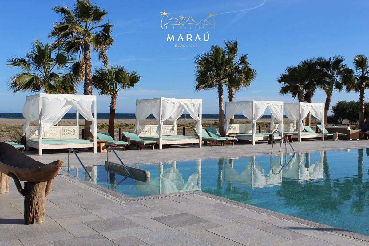 Marau, Almería, Beach club, branding