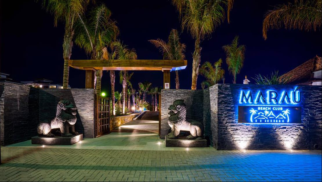 Marau, Almería, Beach club, Diseño de logotipo para fachada