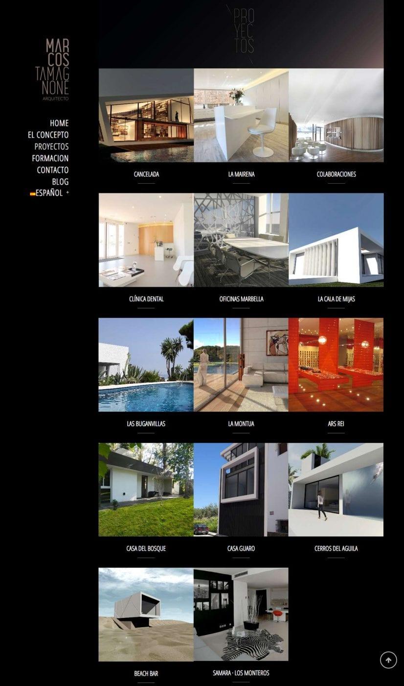 diseño de pagina web portfolio de trabajos