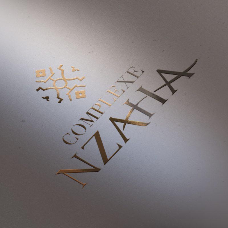 diseño de logo en estampacion cobre