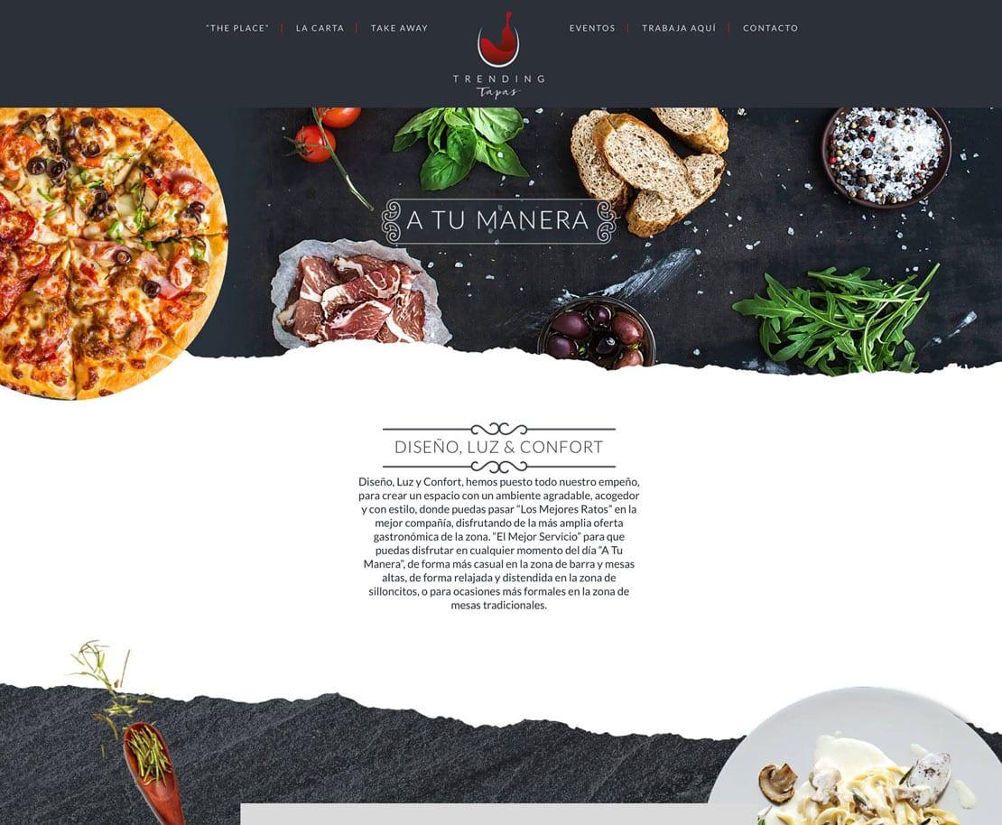 Trending Tapas, diseño de web para restaurante