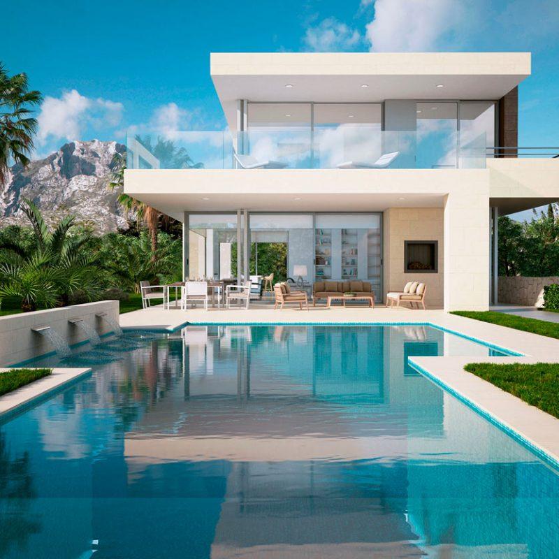 Villa Tango, Marbella, Infografía 3D de exteriores