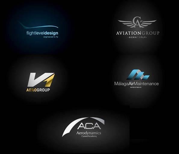 diseño de logotipos para misma empresa de aviación