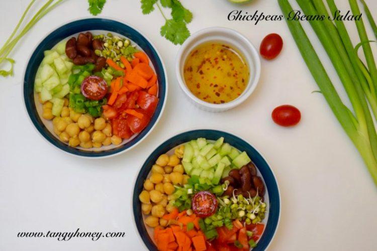 chickpeas beans salad