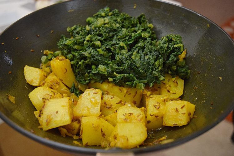Mustard Green With Potato