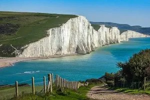 Klify Seven Sisters w East Sussex w Wielkiej Brytanii