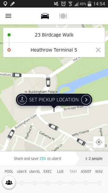 Jak zamowic taksowke z UBER w WIelkiej Brytanii
