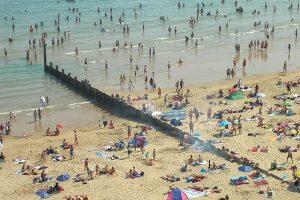 Bournemouth - plaża - lato - pogoda