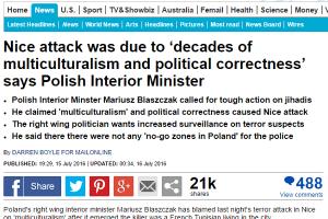 Minister Blaszczak - multikulti - polityczna poprawnosc - komentarze