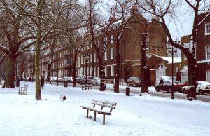 Śnieg w UK i w Londynie