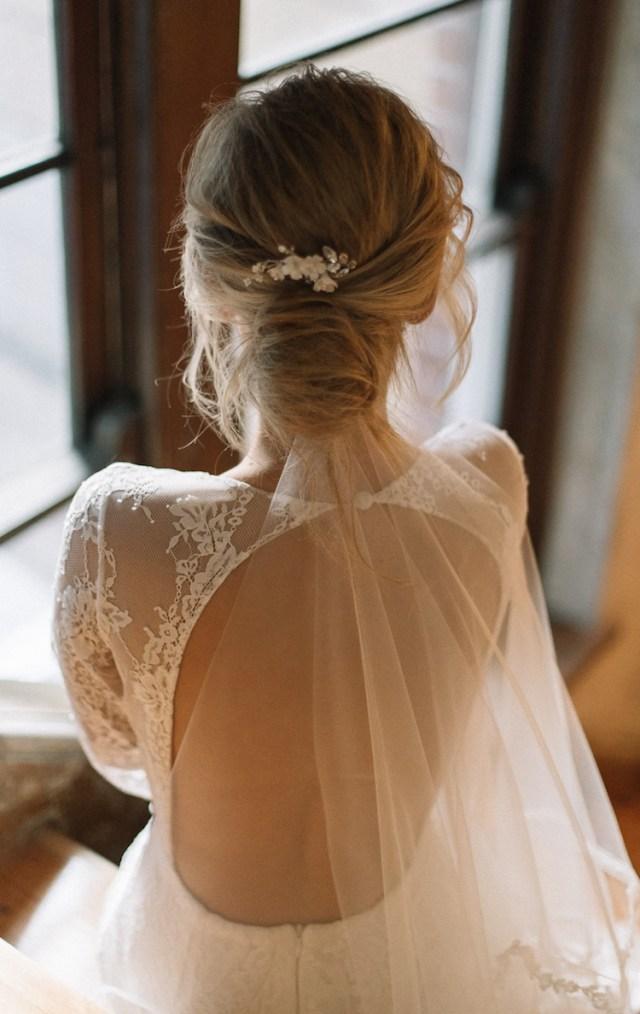 flying high | wedding veils above or below the bun